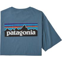 Buy M's P-6 Logo Organic T-Shirt Pigeon Blue