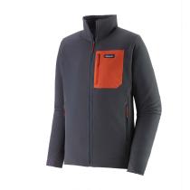 Buy M's R2 TechFace Jkt Smolder Blue w/Metric Orange