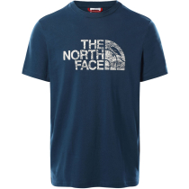 Achat M S/S Wood Dome Tee Monterey Blue