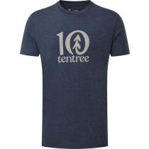 Acquisto M Tentree Logo Classic T-Shirt Dress Blue Heather