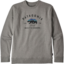 Buy M's Arched Fitz Roy Bear Uprisal Crew Sweatshirt Gravel Heather