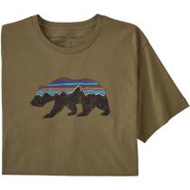 Achat M's Fitz Roy Bear Organic T-Shirt Sage Khaki