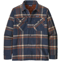 Buy M's Insulated Organic Cotton MW Fjord Flannel Shirt Growlers Plaid: Smolder Blue