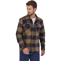 Buy M's Insulated Organic Cotton MW Fjord Flannel Shirt Mountain Plaid: Timber Brown