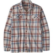 Buy M's L/S Organic Cotton MW Fjord Flannel Shirt Drifted/Cornice Grey