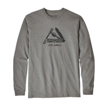 Achat M's LS Live Simply Pocketknife Responsibili-Tee Gravel Heather