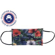 "Buy Masque En Tissu ""Communauté"" Lavable Diving Navy/Flower Blossom"
