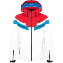 Achat Men Golden Eagle Jacket White-Bright Red-Peacock