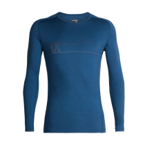 Achat Mens 200 Oasis Deluxe Raglan LS Crewe Single Line Ski Prussian Blue