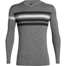 Buy Mens 200 Oasis LS Crewe Heritage Stripe Gritstone Heather