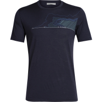 Achat Mens Tech Lite SS Crewe Glacial Lines Midnight Navy