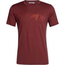 Achat Mens Tech Lite SS Crewe Peak in Reach Cabernet