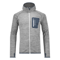 Achat Merino Fleece Melange Hoody Men Grey Blend