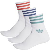 Buy Mid Cut Crw Sck Blanc/Blanc/Blanc