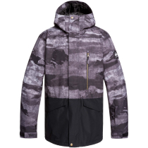 Achat Mission Printed Block Jacket Black Matte Painting