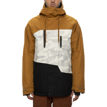 Buy Mns Geo Insulated Jacket Golden Brown Colorblock