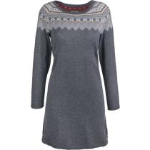 Achat Montebianca Knitted Dress Dark Grey Melange