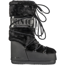 Buy Moon Boot Classic Faux Fur Black
