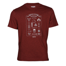 Achat Mountain Kit Tee Burgundy