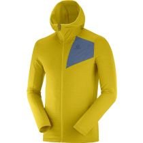 Buy Outline Fz Hoodie M Lemon Curry/Darkde