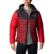 Achat Powder Lite Hooded Jacket M Red Jasper Dark Purple Mountain Red