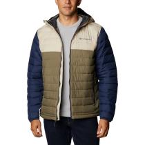 Achat Powder Lite Hooded Jacket M Stone Green Fossil Collegiate Navy