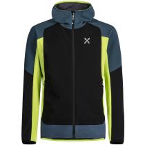 Achat Premium Wind Hoody Jacket Blu Cenere/Verde Lime