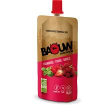 Buy Purée bio 63g Baouw Framboise-Fraise-Basilic