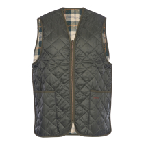 Acquisto Quilted Waistcoat Zip-In Liner Olive Ancient