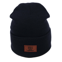 Kauf Rancho Leather Beanie Navy
