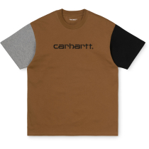 Buy S/S Carhartt Tricol T-Shirt Loose Hamilton Brown
