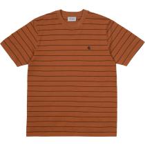 Achat S/S Denton T-Shirt Denton Stripe, Rum / Black
