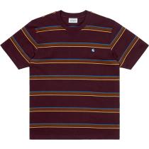Acquisto S/S Kent T-Shirt Kent Stripe, Wine