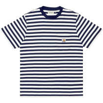 Buy S/S Scotty Pocket T-Shirt Scotty Stripe, Dark Navy / White