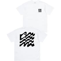 Buy S/S Wavy State T-Shirt White / Black
