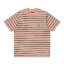 Kauf S/S Houston Pocket T-Shirt Houston Stripe, Peach Stripe