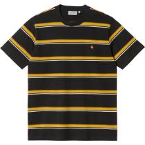 Acquisto S/S Kent T-Shirt Kent Stripe, Black