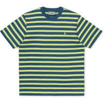 Acquisto S/S Oakland T-Shirt Oakland Stripe, Moody Blue / Lime Stripe