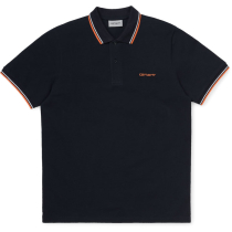 Compra S/S Script Embroidery Polo Dark Navy / White / Clockwork