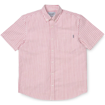 Kauf S/S Simon Shirt Simon Stripe, Etna Red