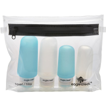 Acquisto Silicone Bottle Set Clear/Aqua