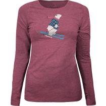 Buy Ski-Bär Long sleeve T-shirt Cordovan Dark Melange