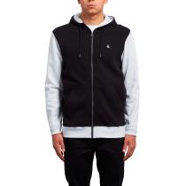 Buy Sngl Stn Div Zip Fleece Black