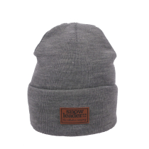 Compra Snowleader Leather Beanie Light Grey Heather