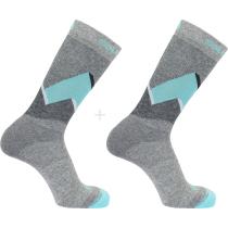 Buy Socks Outline Crew 2-Pack Medium Gre/Pas
