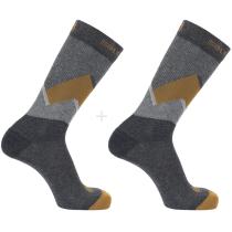 Buy Socks Outline Prism 2-Pack Grey/Cumin