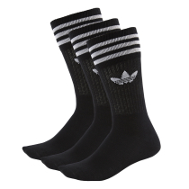 Buy Solid Crew Sock Black/White