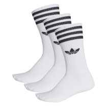 Kauf Solid Crew Socks Pack White/Black