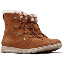 Buy Sorel Explorer Joan W Camel Brown/Ancient Fossil