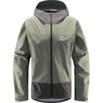 Buy Spate Jacket Men Magnetite/Lite Beluga